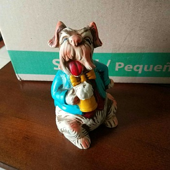 Vintage Comical Dog with Beer in hand from Grandmother's Dog Collection