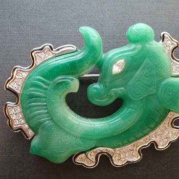 KJL dragon brooch  - Costume Jewelry