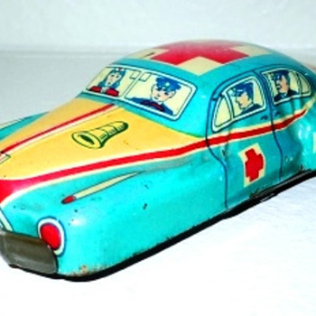 Tin Ambulance - Japan - Model Cars