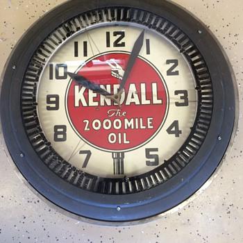 Vintage Kendall spinner clock  50's ? - Clocks