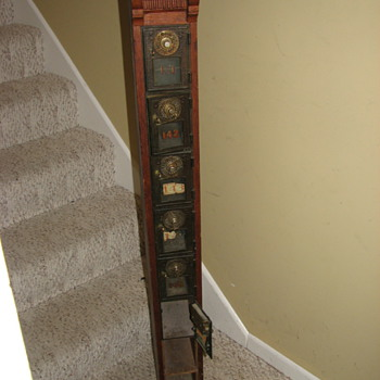 My New Old Post Office Box Column with Amazing Boxes and Doors