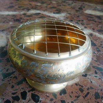 Indian brass bowl - Asian