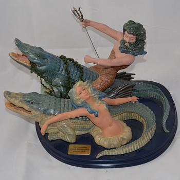 Spanish Porcelain Figurine Nadal World's Fair New Orleans Louisiana - Pottery