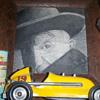 Roy cox Race car and gas tin