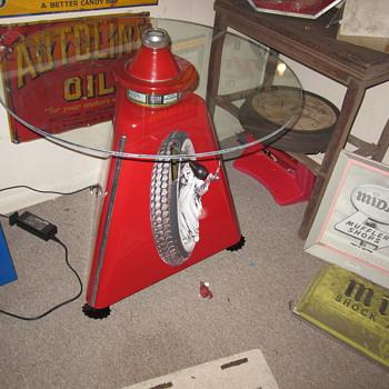 Vintage restored Micro wheel balancer - Advertising