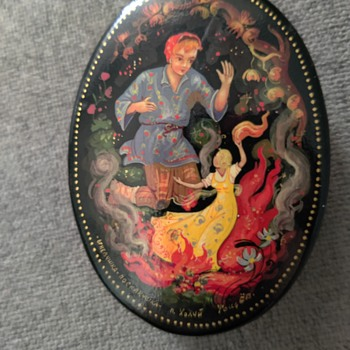 1970s Russian Lacquer Boxes - Asian