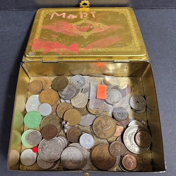 Box of Coins - World Coins