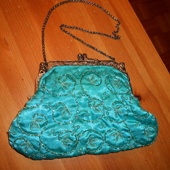 Vintage Hand Sewn Silk Evening Bag - Accessories