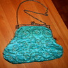 Vintage Hand Sewn Silk Evening Bag