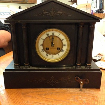 Black Marble Mantle Clock Gaydon and Sons
