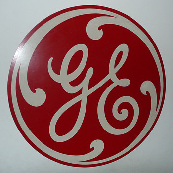 General Electric Masonite Round Sign - Signs