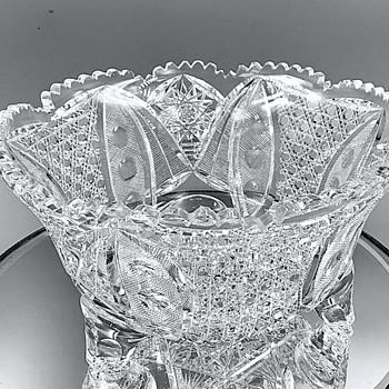 American Brilliant Cut Glass Fern Dish - Glassware