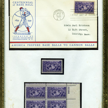 1939 Baseball Stamp - First Day Cover - Stamps