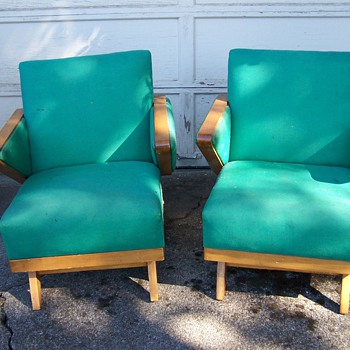 Mid Century Modern Matching Rocking Chairs