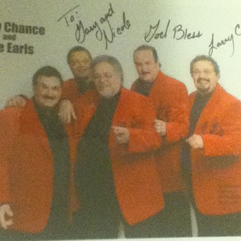 Autographed Photo of Larry Chance and The Earls - Music Memorabilia