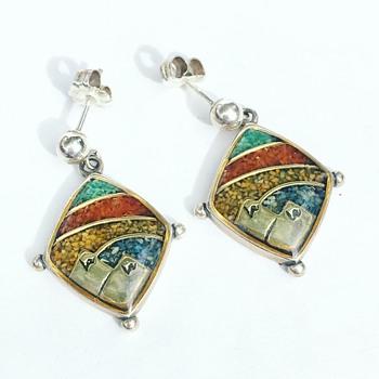 Vintage Sterling Silver Native American Earrings - Fine Jewelry