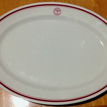 1937 McNicol China U.S. Army Medical Serving Plate - China and Dinnerware