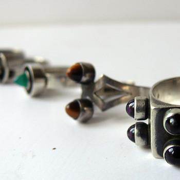 modernist silver jewelry