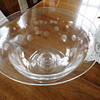 Steuben Clear Bowl with etched circles