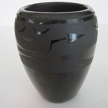 Santa Clara Pottery Vase (A. Sisneros)