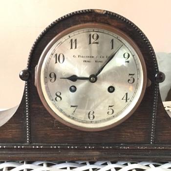 G. Falconer & Co Hong Kong family mantle clock - Clocks