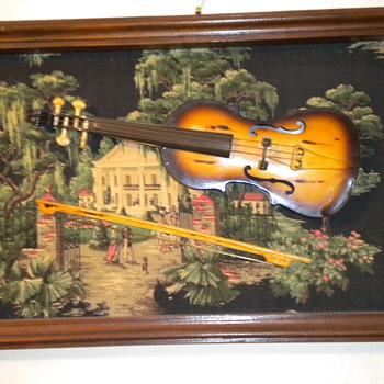 Viola in a frame - Folk Art