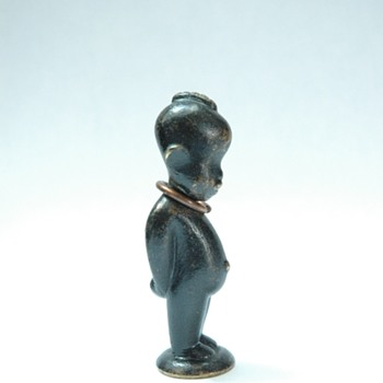 Karl Haguenauer, WIEN   miniature bronze african child-) - Art Deco