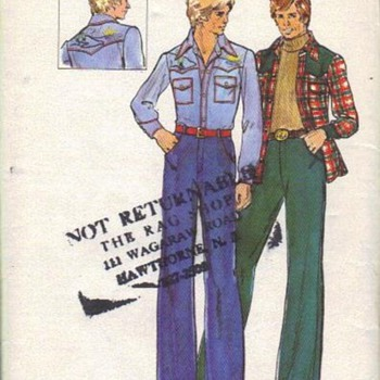Those groovy men fashion patterns - Sewing