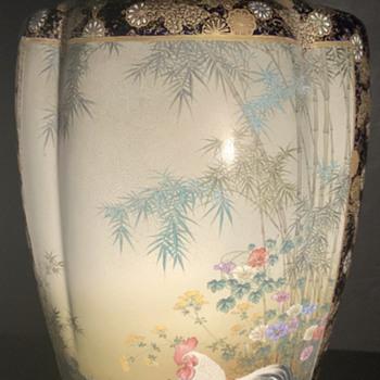 Awata Kyoto Satsuma vase by Kinkozan. - Asian