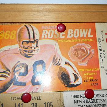 1968 Rose bowl ticket stub - Football