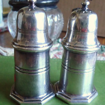 Christofle France salt and pepper shakers, from thrift store, and Christofle Napoleon Letter opener! - Kitchen