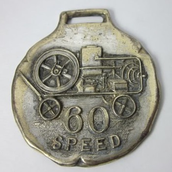 Rare Gilson 60 Speed Hit & Miss Gas Engine Watch Fob - Pocket Watches