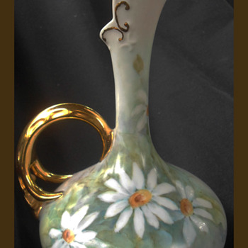 Wonderful Limoges Vase Rare Narrow Long Neck Design