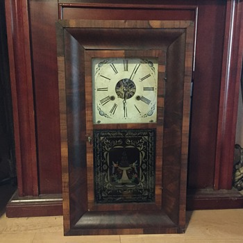 30 hour OGEE weight driven flame mahogany 1840's - Clocks