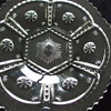 Pressed Glass/Crystal CAKE PLATE pattern by Tarentum Glass