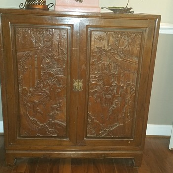 music cabinet that tells a story - Asian