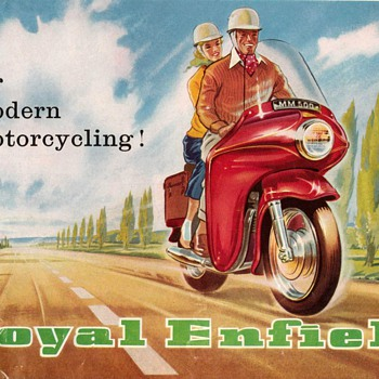 "1960 - ""Royal Enfield"" Motorcycles Brochure - Paper"