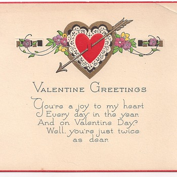 Valentines Postcard-Hearts & Lace