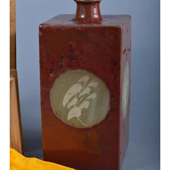 Japanese vase by Tatsuzo Shimaoka. - Asian