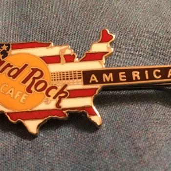 My Favorite Hard Rock Cafe Guitar Pin