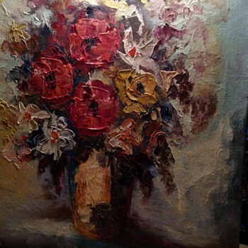 Oil Painting by Corbusier Vase and Flowers