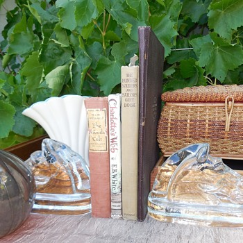 Saturday's Flea Market Finds Books Glass Pottery and Sewing! :^D  - Books