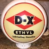 Original D-X ETHYL GASOLINE GLOBE
