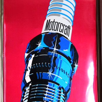 Motorcraft Spark Plug Tin Sign - Advertising