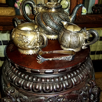 Chinese Silver Tea Set - Asian
