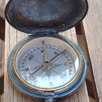 Antique Vintage pocket compass - Tools and Hardware