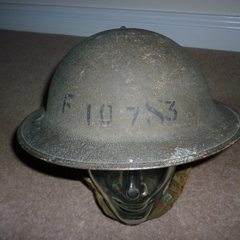 WW11 British factory guard helmet