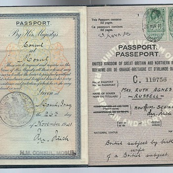 1941 British passport from Mosul