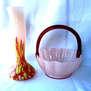 The Kralik Opaque Glass In Pink, a pastel color rendition of the tango Czech glass trend. - Art Glass
