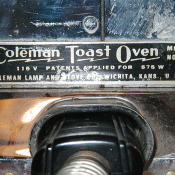 Coleman Toast Oven, Model No. 1 - Kitchen